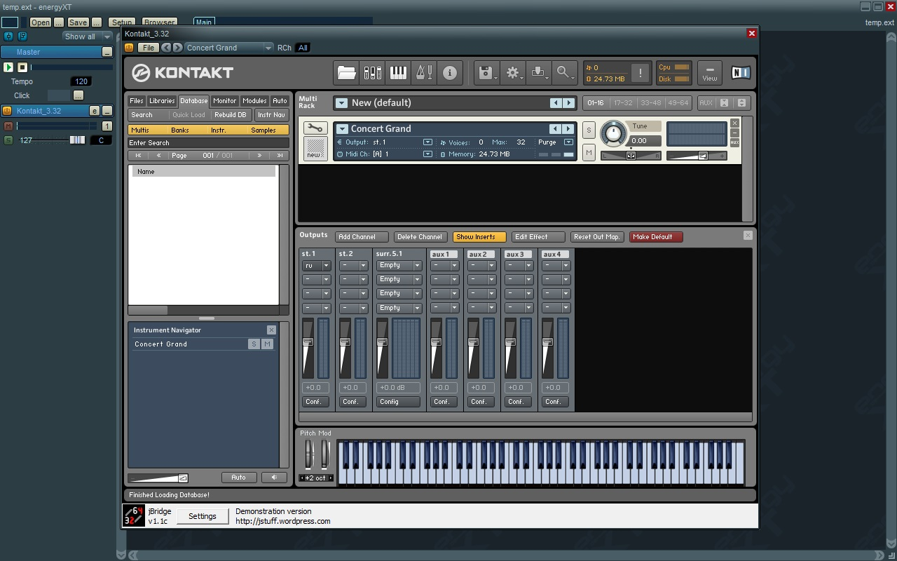 J Bridge working with Kontakt 3